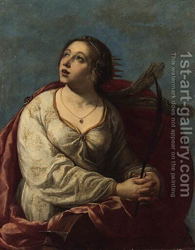 Saint Catherine of Alexandria by (after) Artemisia Gentileschi - Reproduction Oil Painting
