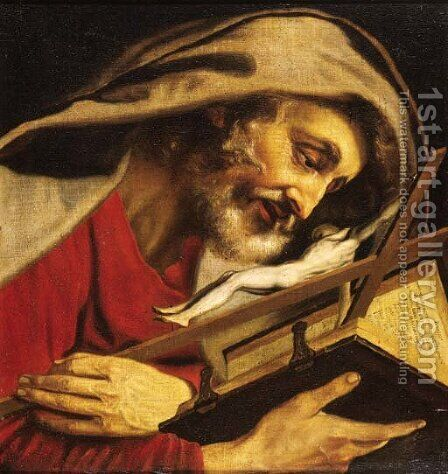 Saint Jerome by (after) Artus Wolffort - Reproduction Oil Painting
