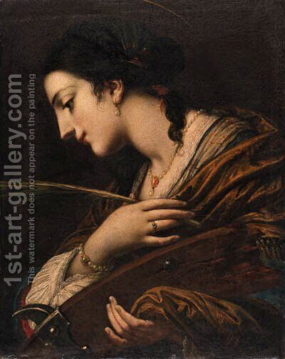 Saint Catherine of Alexandria by (after) Baldassarre Franceschini - Reproduction Oil Painting