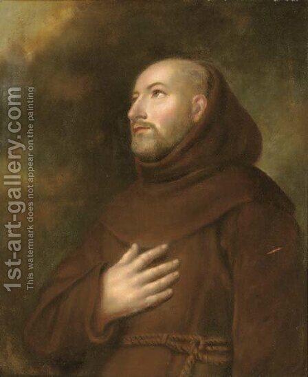Saint Ignatius Loyola by (after) Murillo, Bartolome Esteban - Reproduction Oil Painting