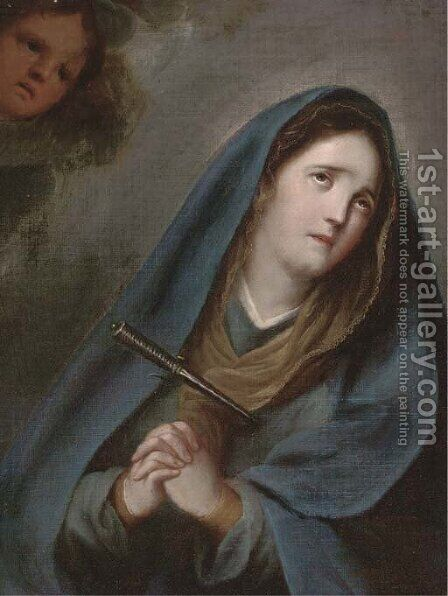 Saint Teresa by (after) Murillo, Bartolome Esteban - Reproduction Oil Painting