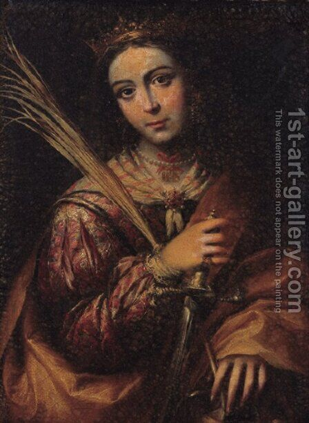 Saint Catherine by (after) Murillo, Bartolome Esteban - Reproduction Oil Painting
