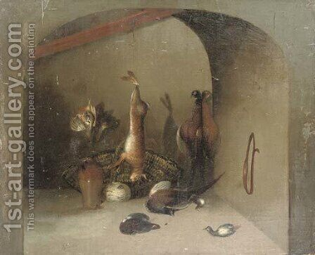 The gamekeeper's larder by (after) Benjamin Blake - Reproduction Oil Painting