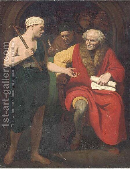 The tax collector by (after) Benjamin West - Reproduction Oil Painting