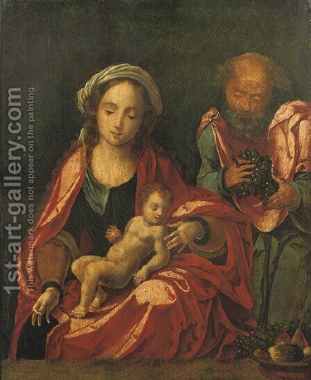 The Holy Family by (after) Bernaert Van Orley - Reproduction Oil Painting