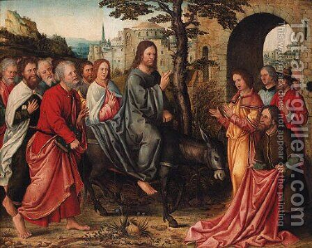 Christ's Entry into Jerusalem by (after) Bernard Van Orley - Reproduction Oil Painting
