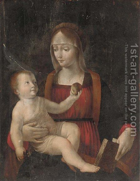 The Madonna and Child 2 by (after) Bernardino Luini - Reproduction Oil Painting
