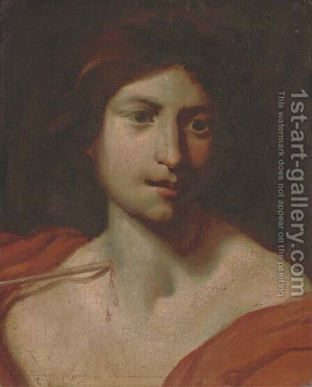 Saint Sebastian by (after) Carlo Cignani - Reproduction Oil Painting