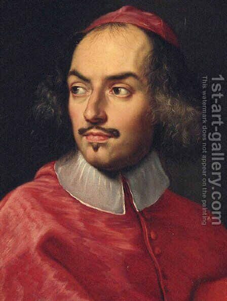 Portait of a cardinal by (after) Carlo Maratta Or Maratti - Reproduction Oil Painting