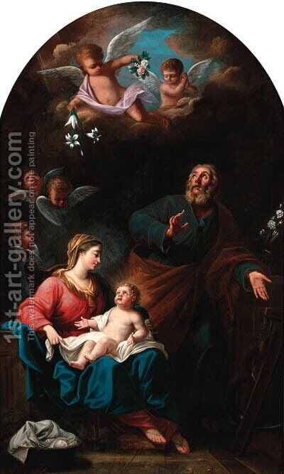The Holy Family 2 by (after) Carlo Maratta Or Maratti - Reproduction Oil Painting