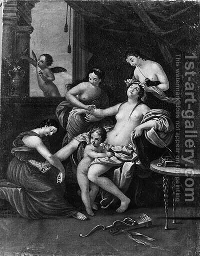 The toilet of Venus by (after) Charles Lebrun - Reproduction Oil Painting