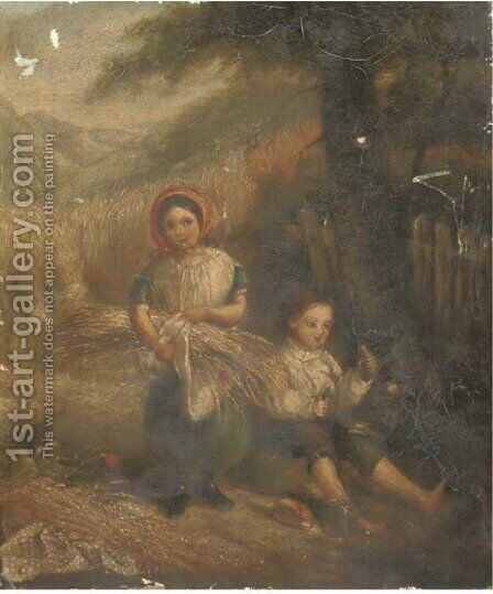 Children of the corn by (after) Charles Passey - Reproduction Oil Painting