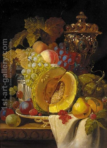 Fruits by (after) Charles Thomas Bale - Reproduction Oil Painting