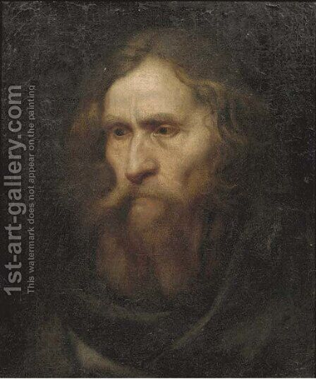 Head of a bearded man by (after) Christoph Paudiss - Reproduction Oil Painting