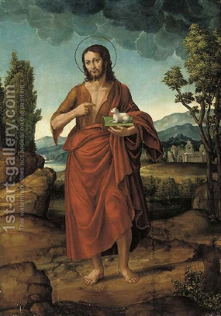 Christ the Redeemer by (after) Giovanni Battista Cima Da Conegliano - Reproduction Oil Painting