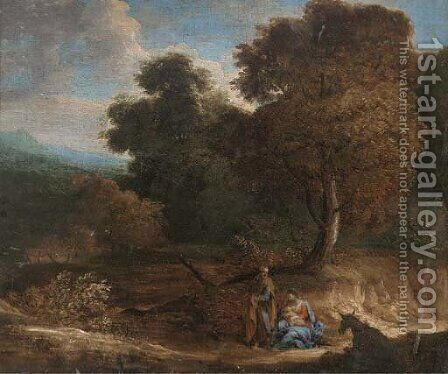 The Rest on the Flight into Egypt by (after) Cornelis Huysmans - Reproduction Oil Painting