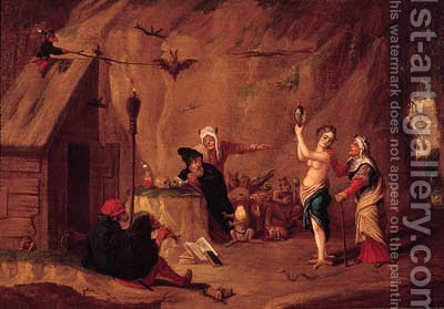 The Tempation of Saint Anthony by (after) David The Younger Teniers - Reproduction Oil Painting