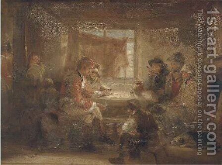 The plan of action by (after) Sir David Wilkie - Reproduction Oil Painting