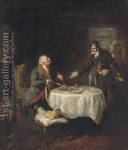 The stubborn patient by (after) Sir David Wilkie - Reproduction Oil Painting
