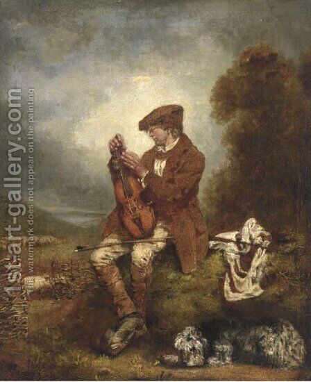 The young fiddler by (after) Sir David Wilkie - Reproduction Oil Painting