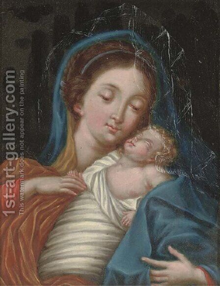 The Virgin and Child by (after) Denys Calvaert - Reproduction Oil Painting