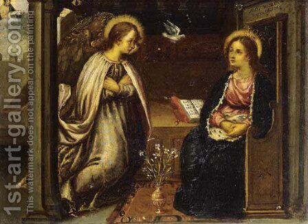 The Annunciation 4 by (after) Denys Calvaert - Reproduction Oil Painting