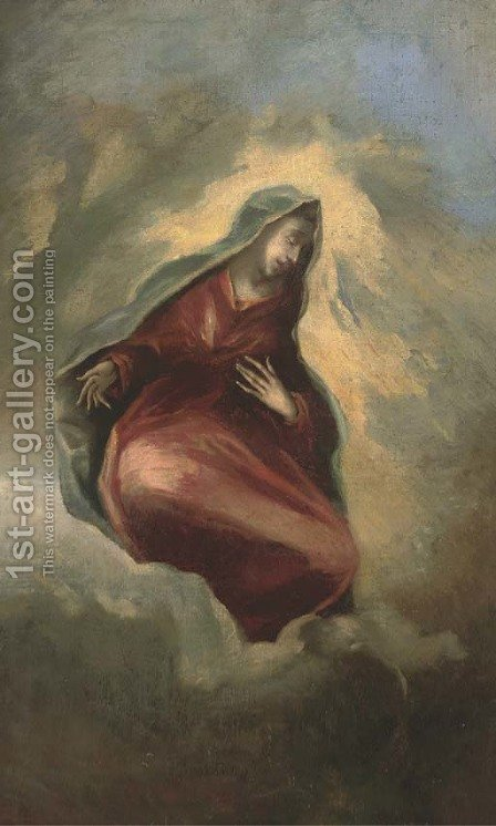 The Assumption of the Virgin by (after) El Greco (Domenikos Theotokopoulos) - Reproduction Oil Painting