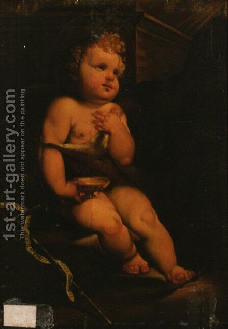The Infant Saint John the Baptist by (after) Domenico Beccafumi - Reproduction Oil Painting