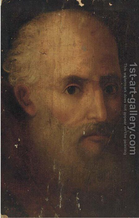 Head of a bearded man by (after) Domenico Tintoretto (Robusti) - Reproduction Oil Painting