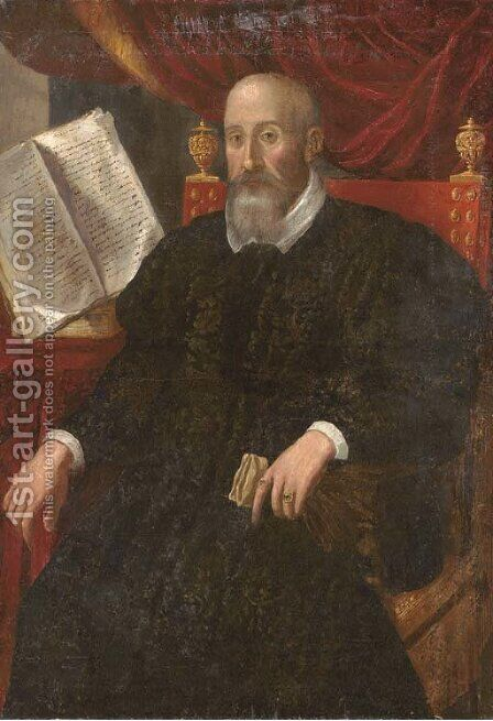 Portrait of a nobleman by (after) Domenico Tintoretto (Robusti) - Reproduction Oil Painting