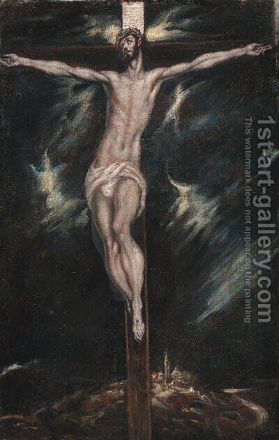 The Crucifixion by (after) El Greco, Domenico - Reproduction Oil Painting