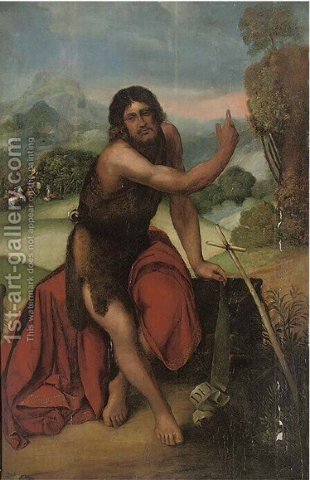 Saint John the Baptist by (after) Dosso Dossi - Reproduction Oil Painting