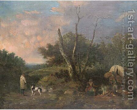 The encampment by (after) Edward Charles Williams - Reproduction Oil Painting