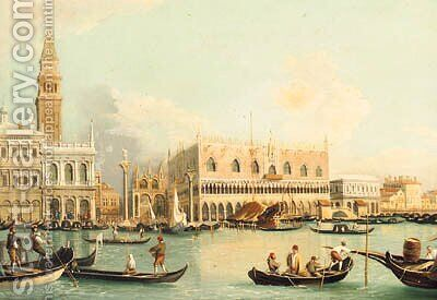 The Bacino Di San Marco, Venice by (after) Of Edward Pritchett - Reproduction Oil Painting