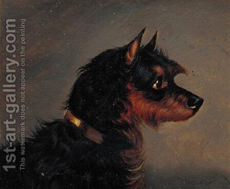 A Manchester terrier by (after) Edwin Loder Of Bath - Reproduction Oil Painting