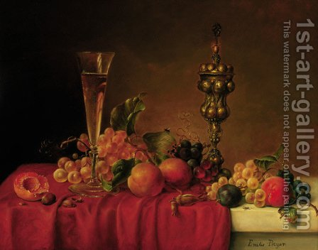 Still life by (after) Emile Preyer - Reproduction Oil Painting