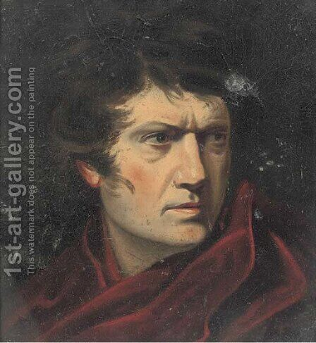 Portrait Of Napoleon, Bust-Length In A Red Cloak by (after) Eugene Delacroix - Reproduction Oil Painting