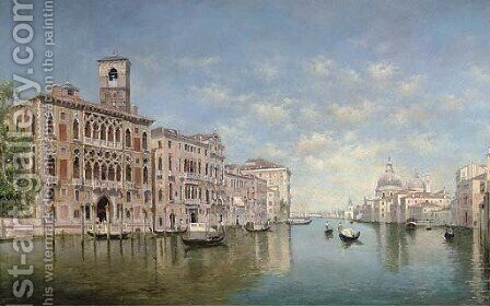 The Grand Canal, Venice by (after) Federico Del Campo - Reproduction Oil Painting
