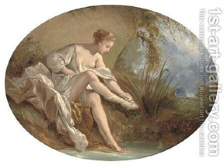 Diana bathing by (after) Francois Boucher - Reproduction Oil Painting