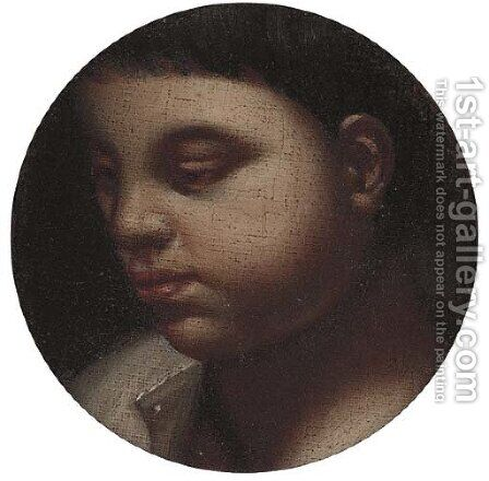 The head of a young boy by (after) Francesco Da Ponte, Called Francesco Bassano - Reproduction Oil Painting