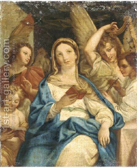 The Madonna with Angels by (after) Francesco De Mura - Reproduction Oil Painting