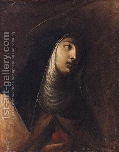 The Virgin of the Sorrows by (after) Francesco Del Cairo - Reproduction Oil Painting