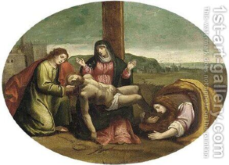 The Lamentation by (after) Francesco Francia - Reproduction Oil Painting