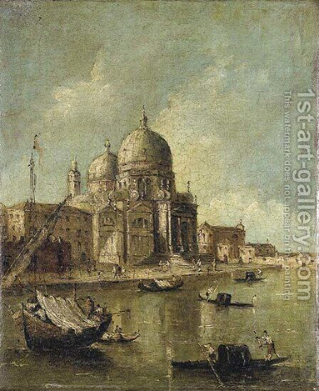 Santa Maria della Salute, Venice by (after) Francesco Guardi - Reproduction Oil Painting