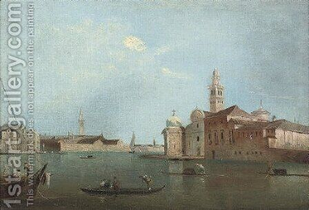 The island of San Michele by (after) Francesco Guardi - Reproduction Oil Painting