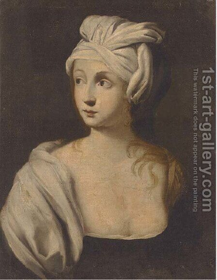 A sibyl by (after) Francesco Romanelli - Reproduction Oil Painting