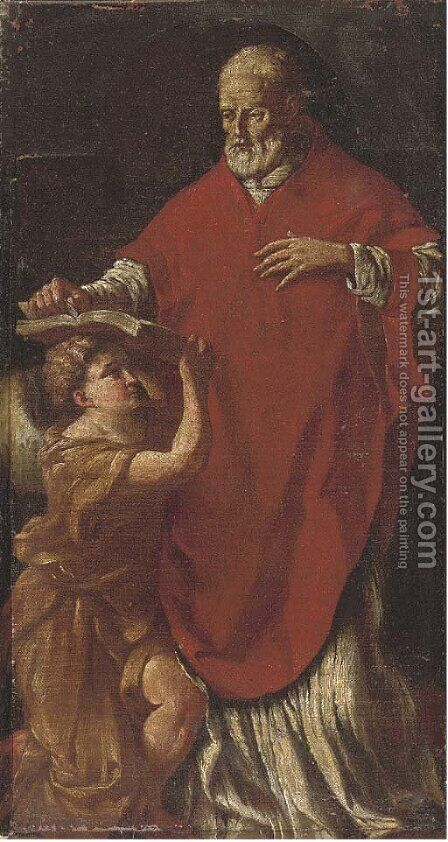 Saint John the Evangelist by (after) Francesco Solimena - Reproduction Oil Painting