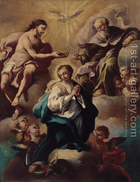 The Immaculate Conception by (after) Francesco Solimena - Reproduction Oil Painting