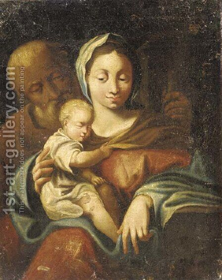 The Holy Family 2 by (after) Francesco Trevisani - Reproduction Oil Painting