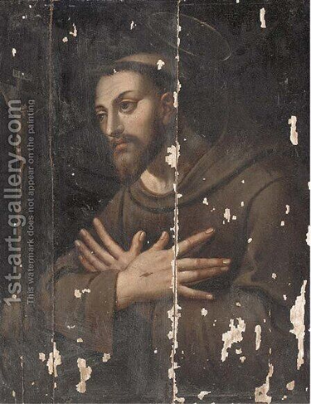 Saint Francis by (after) Francisco De Zurbaran - Reproduction Oil Painting